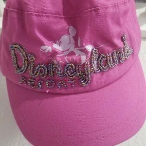 Disney Resort beaded pink adjustable adult hat